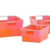 Overbeck and Friends Aufbewahrungskorb Ines pink-orange