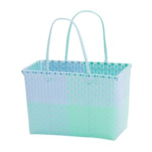 Overbeck and Friends Markttasche Ines blau-mint medium