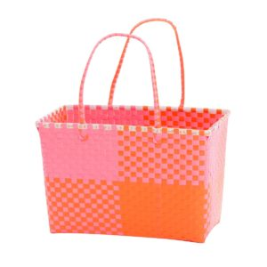 Overbeck and Friends Markttasche Ines pink-orange medium