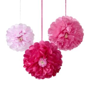 Talking Tables Pom Poms Flower Pink
