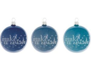 Overbeck and Friends Christbaumkugeln make a wish blau 12er Set